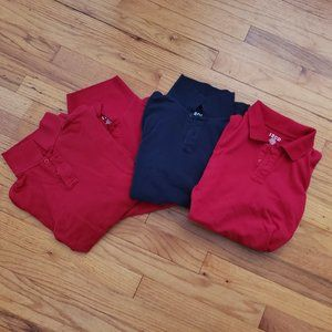 Lot of (4) youth polo shirts